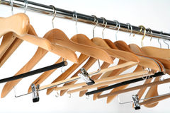 Coat hangers. Hangers Stock Photography