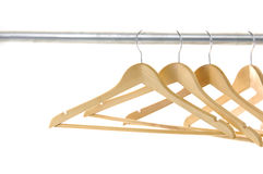 Coat hangers Stock Photos