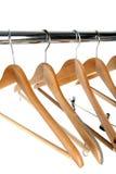 Coat hangers. Isolated on white background stock photography