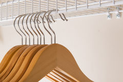 Coat Hangers In Closet Royalty Free Stock Images