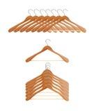 Coat hangers Stock Images