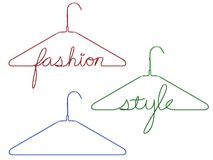 Coat hangers with messages Royalty Free Stock Image