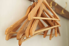 Coat Hangers on a Rack Stock Photos