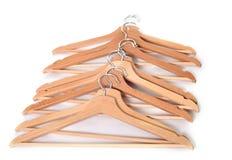 Coat hangers in studio Royalty Free Stock Photo