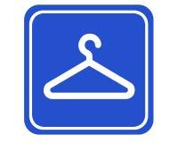 Coat hook. A typical sign showing a coat hook vector illustration
