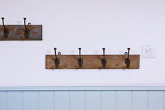 Coat hooks Stock Images