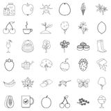 Coat icons set, outline style. Coat icons set. Outline style of 36 coat vector icons for web isolated on white background Royalty Free Stock Image
