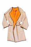 Coat isolated on a white. Background Royalty Free Stock Image