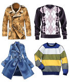 Coat jumper clothes jersey fashion Stock Photos