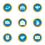Coat of mail icons set, flat style. Coat of mail icons set. Flat set of 9 coat of mail vector icons for web isolated on white background Stock Images