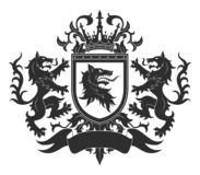 Free Coat Of Arms With Wolves Stock Photos - 164198773