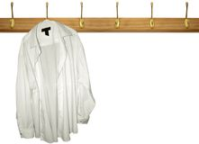 Coat Rack. A lone shirt haning on a coat rack Stock Images
