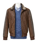 Coat with shirt and sweater and clipping path Royalty Free Stock Photos