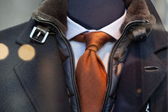 Coat, tie and shirt Royalty Free Stock Images
