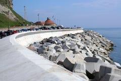 Coatal erosion defences. Scarborough, UK Royalty Free Stock Photo