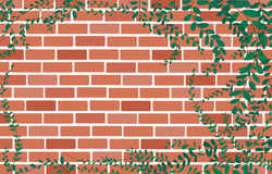 Coatbuttons Mexican daisy plant on Wall of bricks and space background art vector Stock Photo