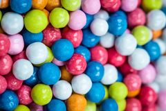 Coated colored dragee candies Royalty Free Stock Photography