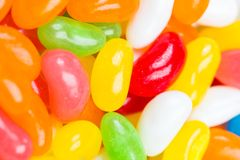 Coated colored jelly bean candies Stock Images