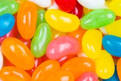 Coated colored jelly bean candies Stock Photos