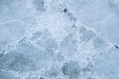 Coated fissures ice Royalty Free Stock Photos