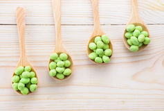 Coated peanuts wasabi flavor royalty free stock photography