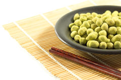 Coated peanuts wasabi flavour Royalty Free Stock Photography
