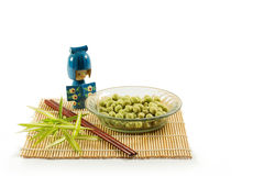 Coated peanuts wasabi flavour Stock Photos