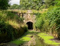 Coates Portal of Sapperton Tunnel, Thames - Severn Canal, Cotswolds, United Kingdom stock photos