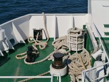 A Coatian ferry boat royalty free stock photos