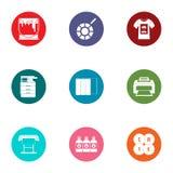Coating icons set, flat style. Coating icons set. Flat set of 9 coating vector icons for web isolated on white background stock illustration