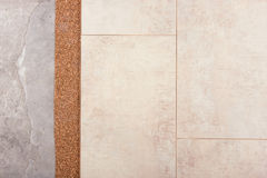 Coating of the laminate and cork Royalty Free Stock Photography