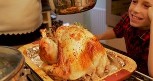 Coating The Turkey stock footage