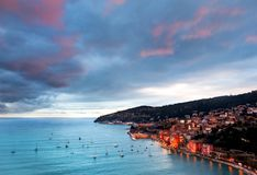 Coatline de França de cima de Fotos de Stock