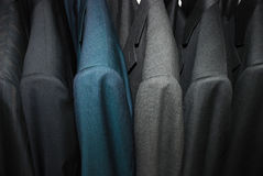 Coats. Made in Italy on a hanger Royalty Free Stock Photography