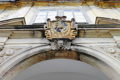Coats of arms on the arch Stock Images