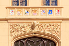Coats of arms in castle Lednice Stock Images