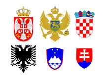 Coats of Arms European Flags 2 Royalty Free Stock Images