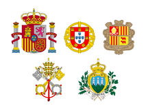 Coats of Arms European Flags 1 Royalty Free Stock Images