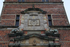 Coats of Arms of Frederiksborg Castle, Denmark royalty free stock images