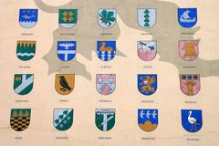Coats of arms Royalty Free Stock Photography