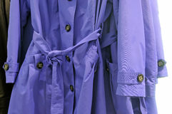 Coats on the hanger Royalty Free Stock Image