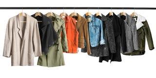 Coats and jackets isolated Stock Photo