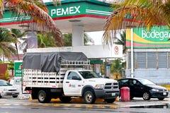 Dodge Ram 4000. Coatzacoalcos, Mexico - June 2, 2017: Cargo truck Dodge Ram 4000 at the gas station Royalty Free Stock Image