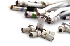 Coax cable and connectors Royalty Free Stock Photo