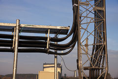 Coax cables under ice bridge Stock Image