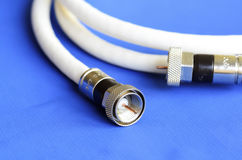 Coax television cable Royalty Free Stock Image