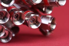 Free Coax TV Cable Close-up Stock Photography - 109660322