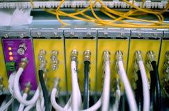 Coaxail e fios óticos Imagem de Stock Royalty Free