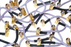 Coaxial cable group Stock Photography