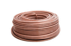 Coaxial cable isolated Stock Images
